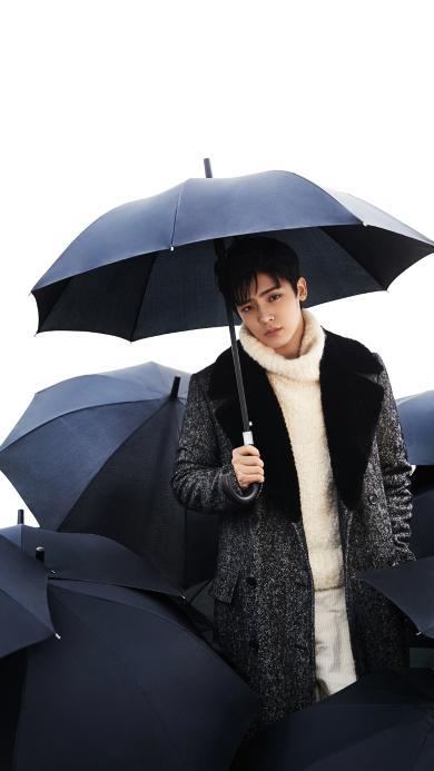 侯明昊 演员 明星 时尚 伞