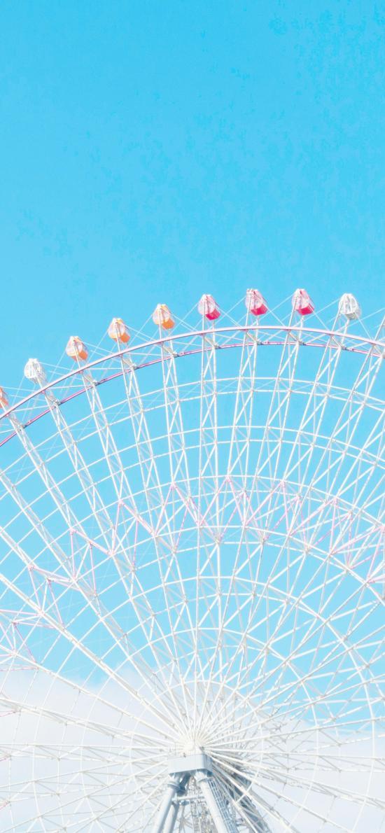 摩天輪 天空 蔚藍 游樂場