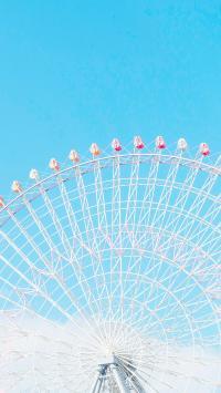 摩天轮 天空 蔚蓝 游乐场