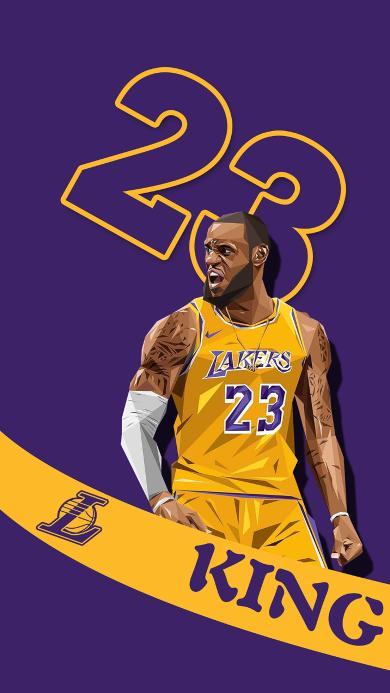 詹姆斯 运动员 篮球 NBA 23 紫色