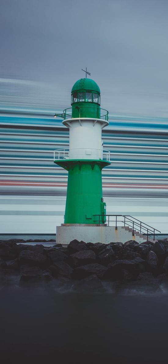 海岸 灯塔 信号塔 建筑