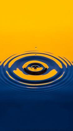简约 水滴 涟漪 圈圈