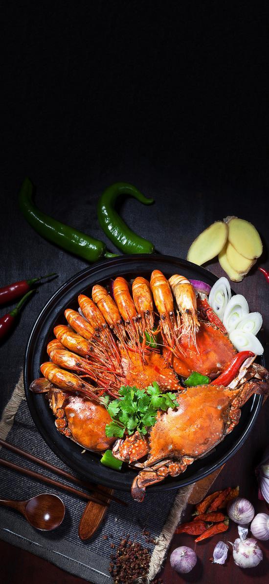 海鲜锅 螃蟹 大虾 干锅