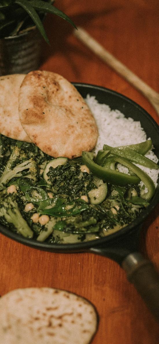 烹饪 蔬菜 馕 米饭