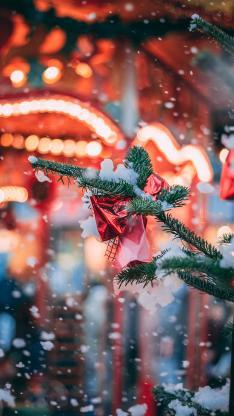 圣诞 雪季 圣诞树 装饰