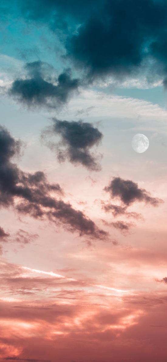天空 云层 月亮 彩霞