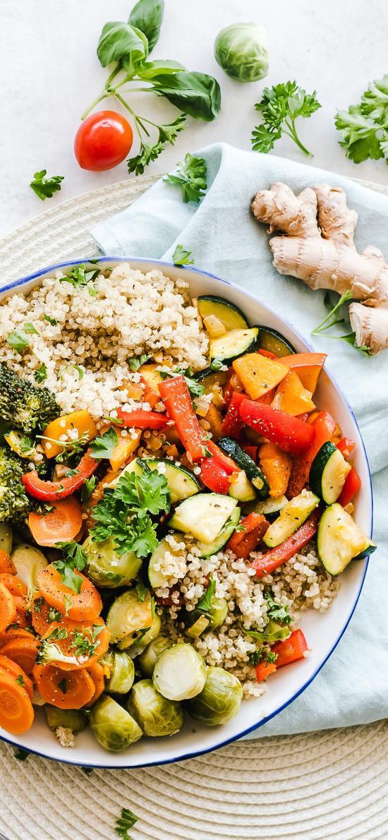 沙拉 蔬菜 水果 花椰菜 胡萝卜 健康