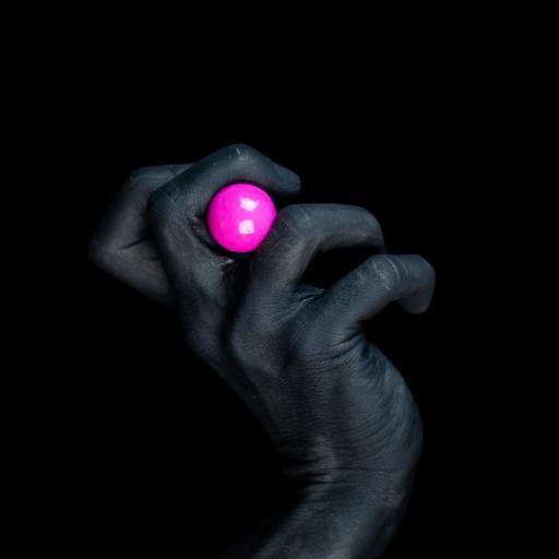 手部 漆黑 小球 黑
