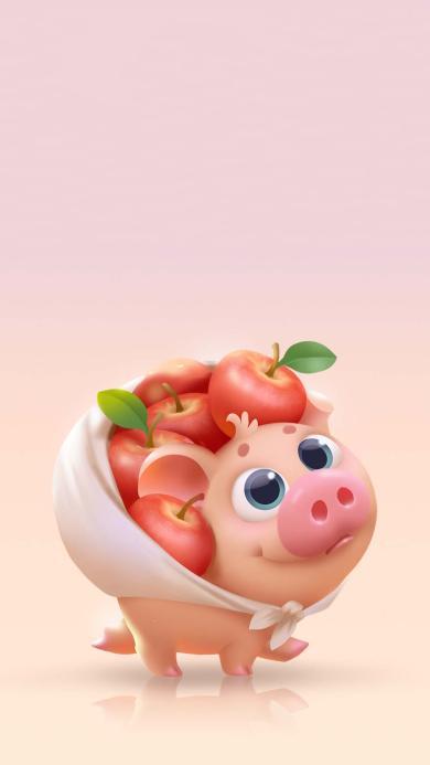 小游戏 碰撞吧番茄 卡通猪猪 苹果