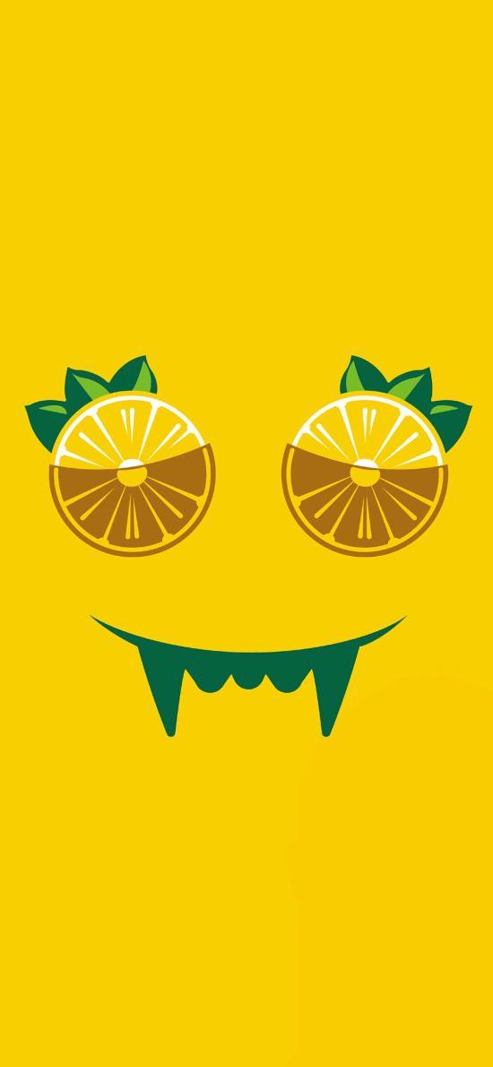 黄色背景 维他 柠檬茶 插图