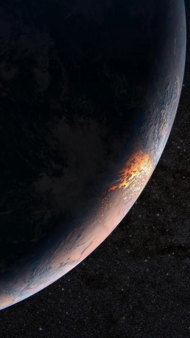 球体 星球 星空 黑