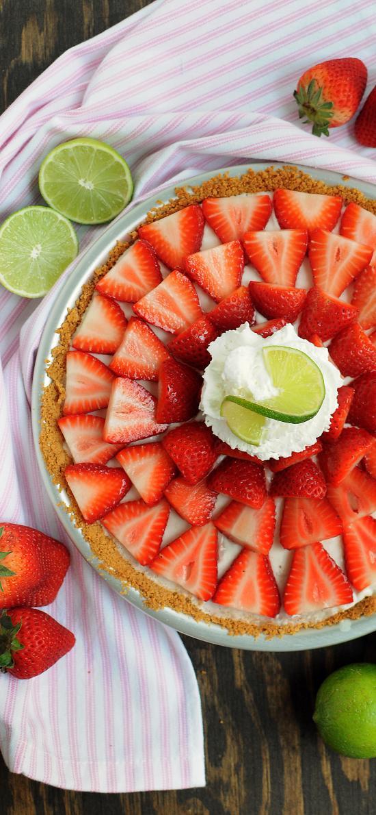 糕點 蛋糕 草莓 平鋪 檸檬 青檸