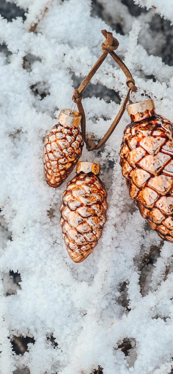 装饰 水果 圣诞 雪霜