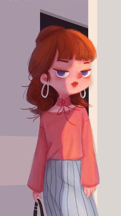 女孩 插画 时尚 泛泛lagu 作品