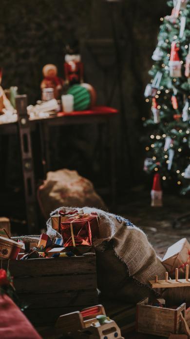 圣诞节 礼物 麻袋 包装