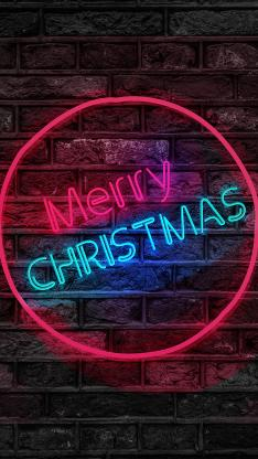 圣诞快乐 灯 merry Christmas 圆形