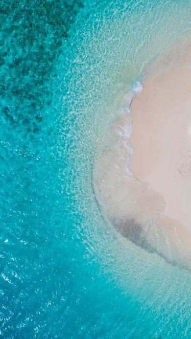 海湾 沙滩 海水 清澈