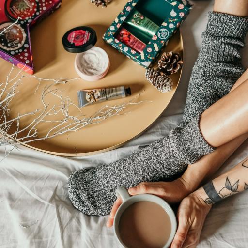 静物 咖啡 腿部 手霜