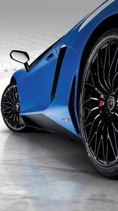 兰博基尼 超级跑车 炫酷 蓝色
