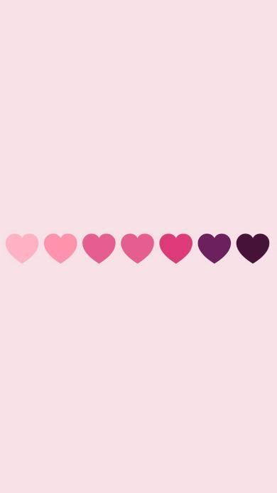 爱心 渐变 心形 粉色