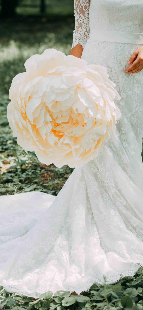 婚纱 花 浪漫 新娘