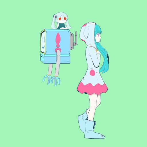 二次元 少女 初音未来 机器人