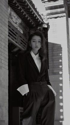 关晓彤 演员 明星 艺人 黑白 时尚