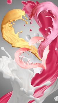 爱心 颜料 液体 色彩