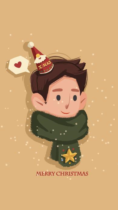 圣诞节 情侣 男孩Merry Christmas