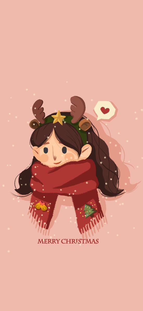 圣诞节 情侣 女孩 Merry Christmas