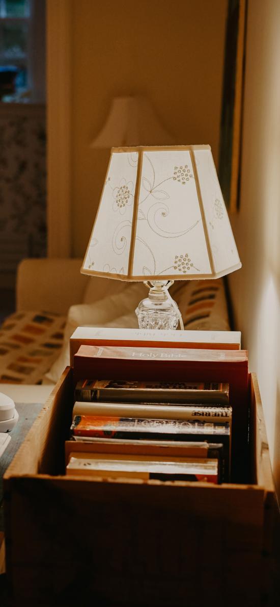 静物 书本 台灯 照明