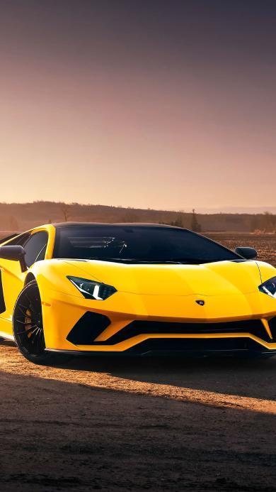 兰博基尼 超级跑车 炫酷 黄色