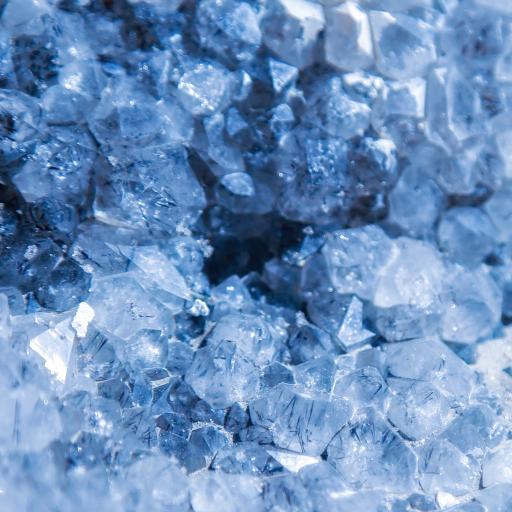 晶石 蓝色 透明 矿物质