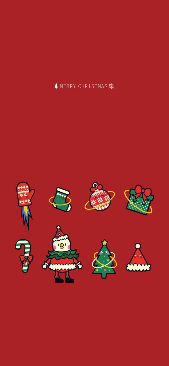 圣诞节 卡通 雪人 圣诞 帽Merry Christmas