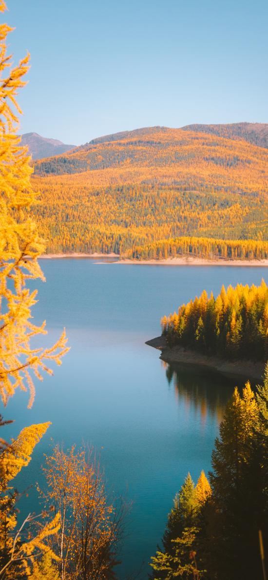 自然 郊外 湖泊 美景