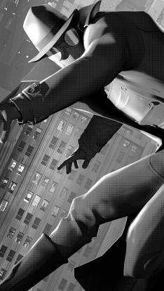 蜘蛛侠 平行宇宙 电影 漫威 欧美 暗影 黑色
