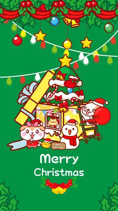 圣诞节 卡通 圣诞老人 Merry Christmas 圣诞树