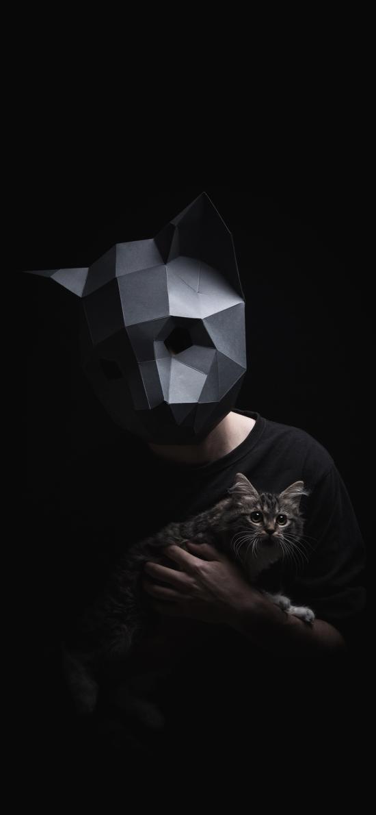 面具 幾何 寫真 貓咪