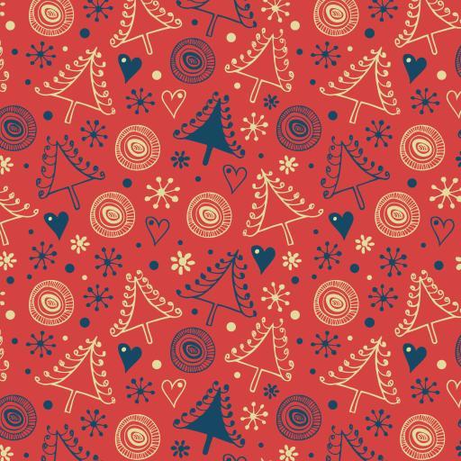 圣诞 节日 平铺 图形