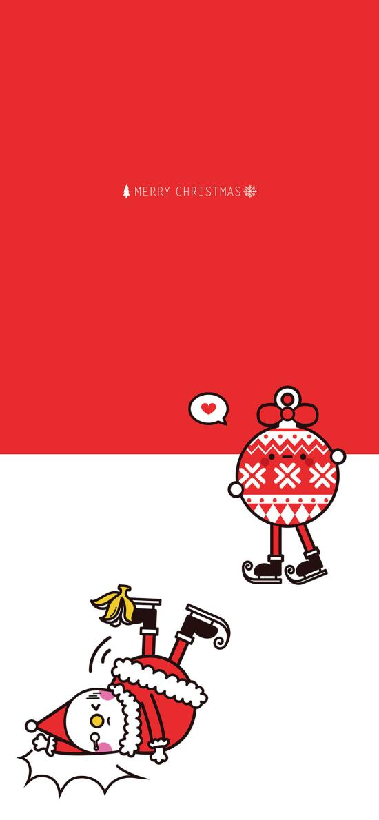 圣诞节 雪人 滑雪 Merry Christmas