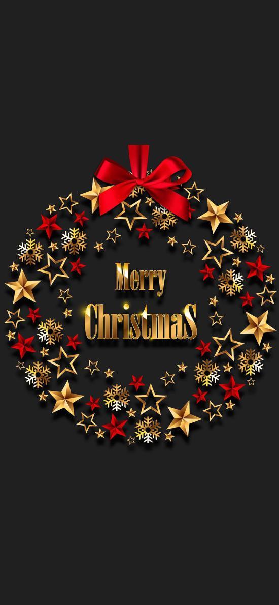 圣诞 星星 雪花 merry Christmas