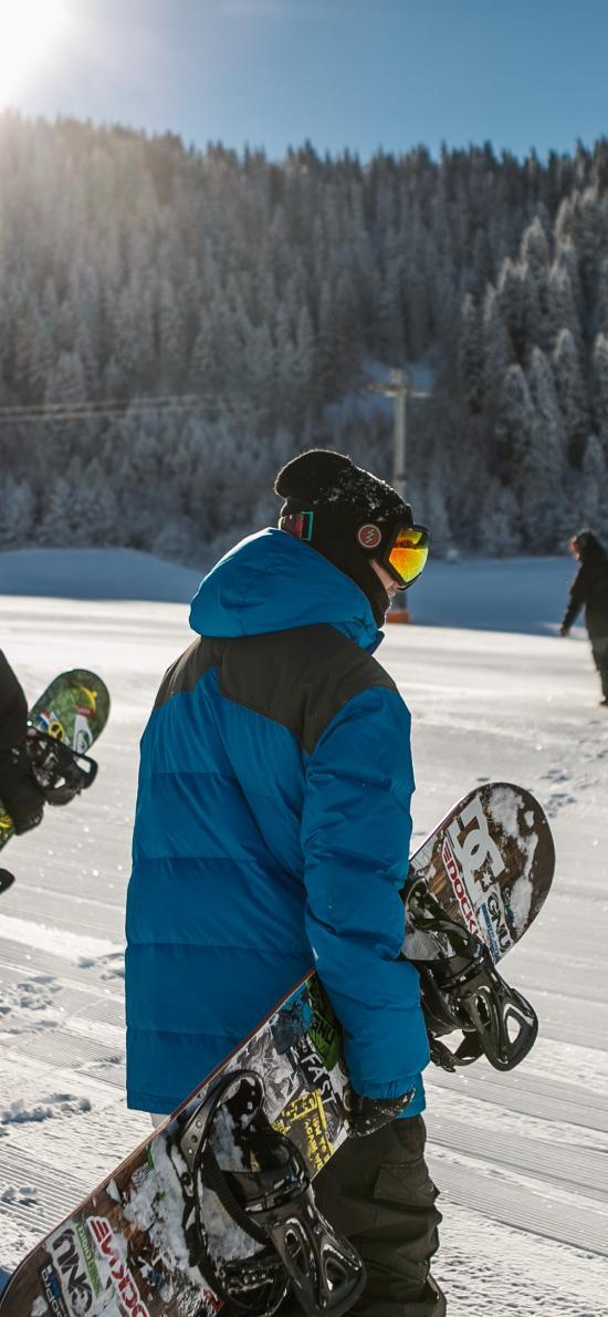 滑雪 冬季 雪地 运动