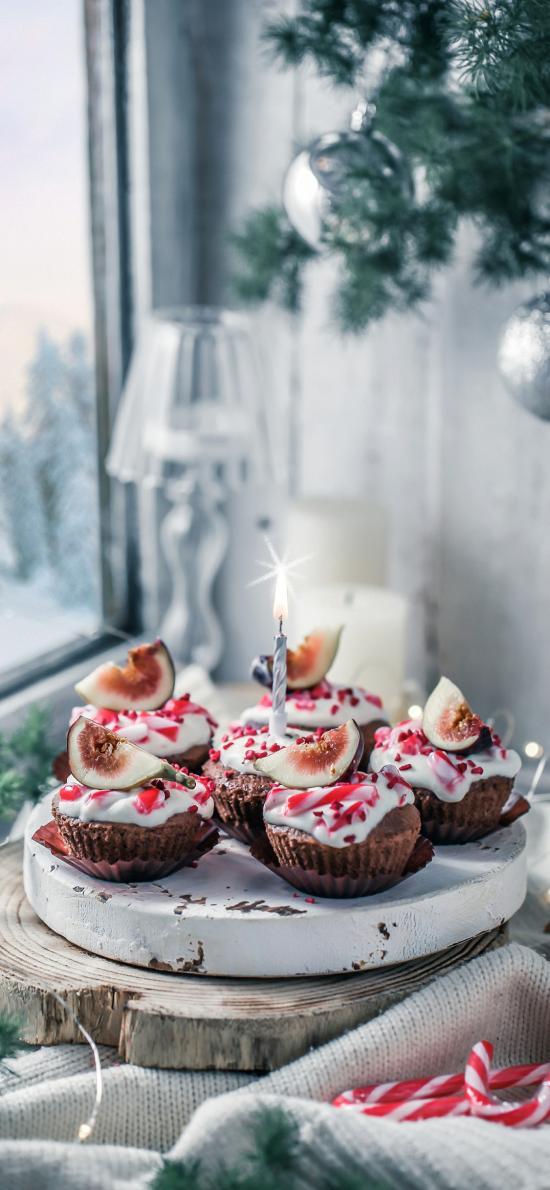 烘焙 甜品 纸杯蛋糕 无花果