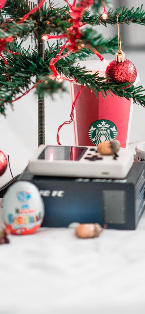 圣诞树 摆件 装饰 咖啡