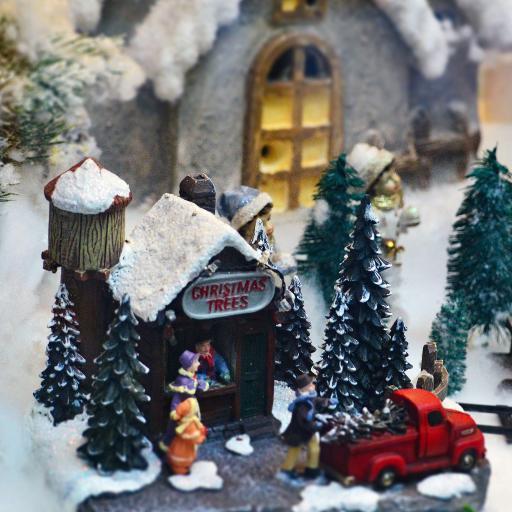 摆件 家居 装饰 木屋 圣诞树