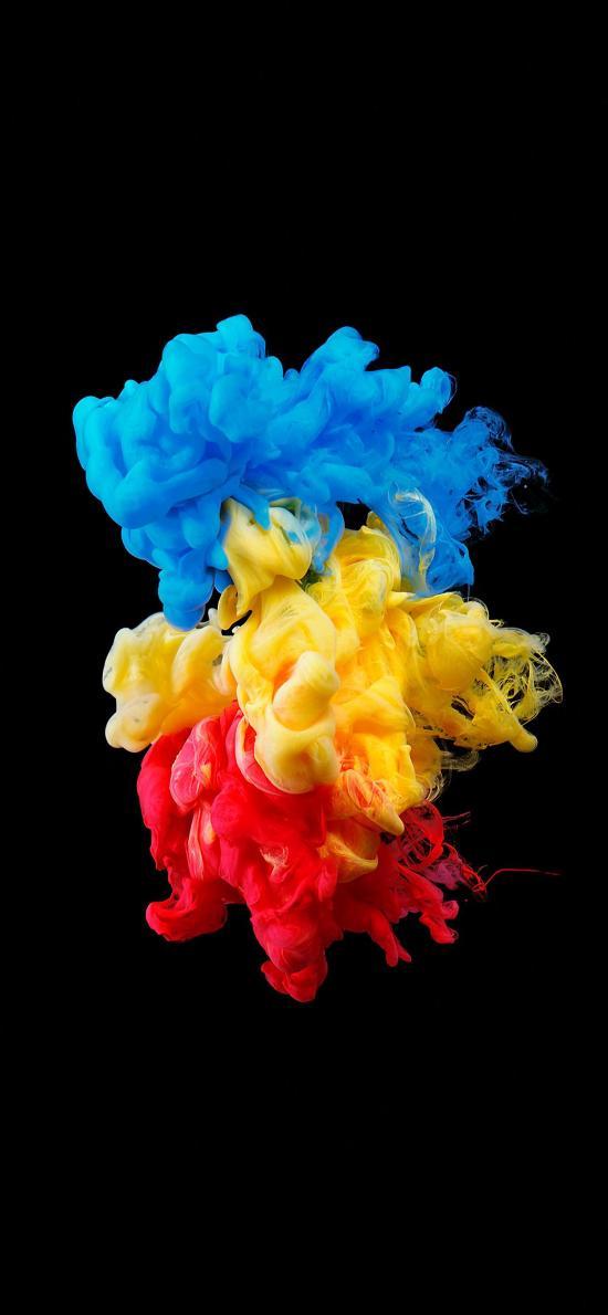 顏料 色彩 融合 液體