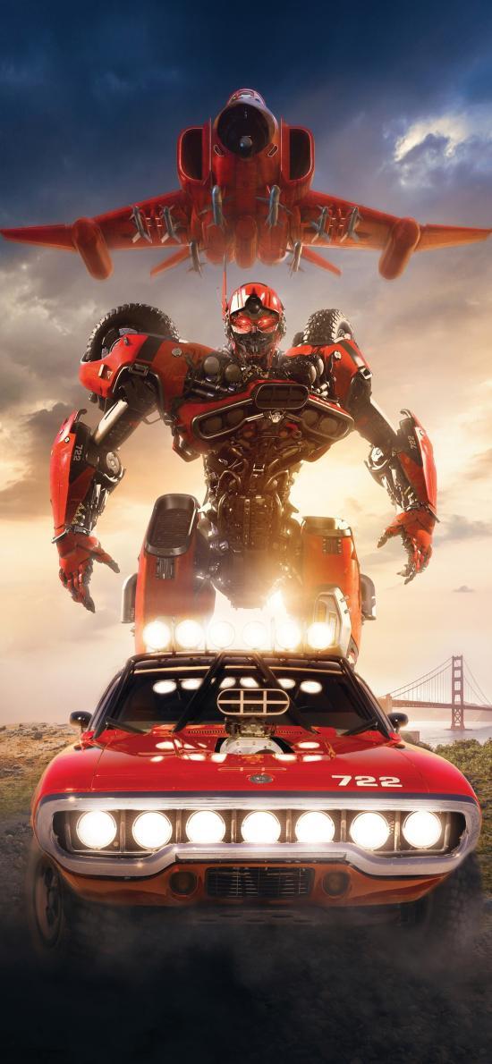 大黄蜂 机器人 飞机 汽车 电影 海报