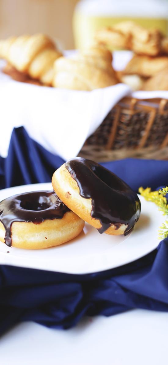 点心 甜甜圈  甜食 巧克力