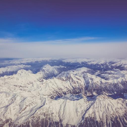 雪山 山脉 地理 大自然 航拍