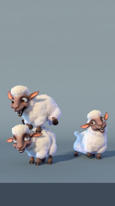游戏 3D 绵羊 荒部西野